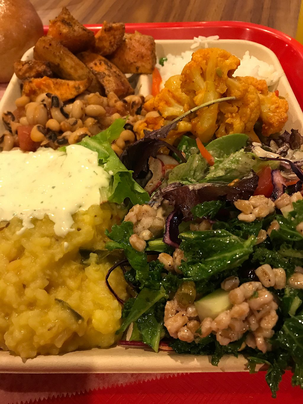 """Photo of Govinda's Vegetarian Lunch  by <a href=""""/members/profile/Birgit"""">Birgit</a> <br/>The complete meal <br/> December 18, 2017  - <a href='/contact/abuse/image/79125/337021'>Report</a>"""