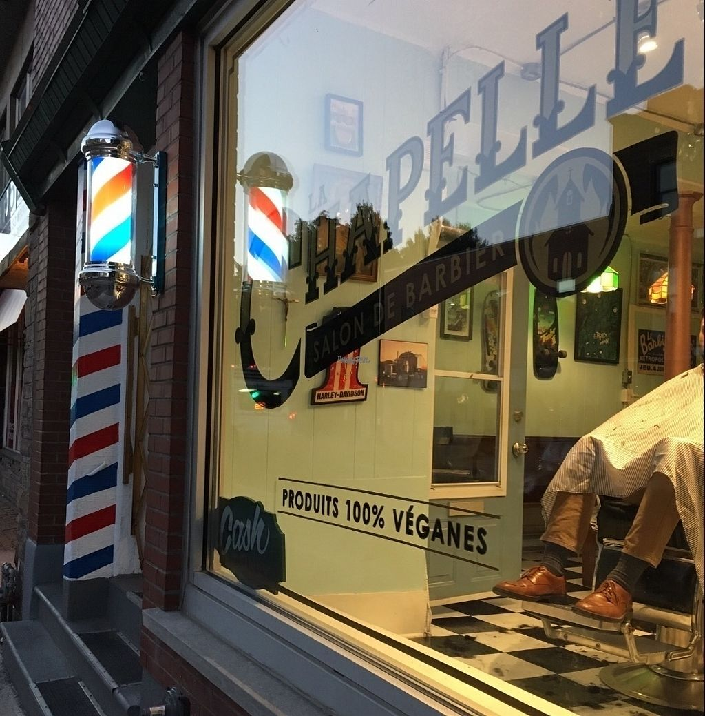 """Photo of La Chapelle Barbershop  by <a href=""""/members/profile/BarkyBarkinson"""">BarkyBarkinson</a> <br/>Barbershop with 100% Vegan products , and all Vegan staff !  LGBT friendly  <br/> September 30, 2016  - <a href='/contact/abuse/image/79131/178838'>Report</a>"""