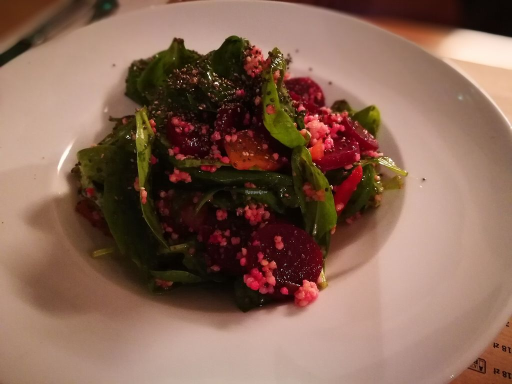 "Photo of Freta 33  by <a href=""/members/profile/k-girl80"">k-girl80</a> <br/>First course: roasted beetroot: spinach, millet, chia seeds, lemon, olive