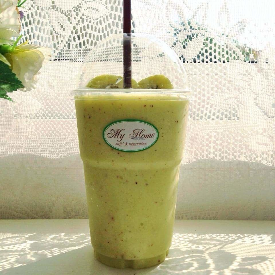 """Photo of My Home Cafe & Vegetarian  by <a href=""""/members/profile/preeda.p"""">preeda.p</a> <br/>Kiwi Smoothie <br/> October 26, 2016  - <a href='/contact/abuse/image/79170/184526'>Report</a>"""
