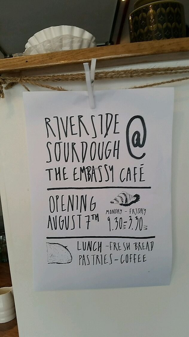 """Photo of Riverside Sourdough Cafe @ the embassy  by <a href=""""/members/profile/konlish"""">konlish</a> <br/>New Management Riverside Sourdough  <br/> July 8, 2017  - <a href='/contact/abuse/image/79174/277997'>Report</a>"""