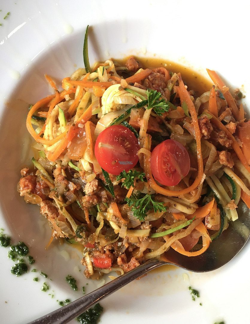 "Photo of Goldener Schwan  by <a href=""/members/profile/Tobias%20Boletaria"">Tobias Boletaria</a> <br/>Vegan vegetable noodles with tofu bolognese <br/> August 25, 2016  - <a href='/contact/abuse/image/79184/171443'>Report</a>"