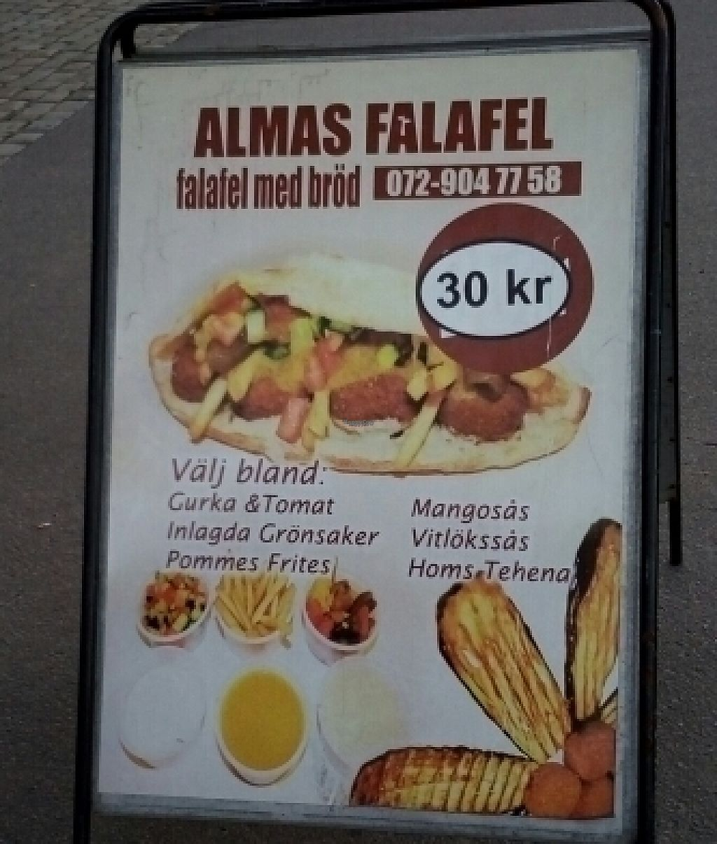 """Photo of Almas Falafel - Ryd  by <a href=""""/members/profile/grasseater76"""">grasseater76</a> <br/>poster  <br/> August 27, 2016  - <a href='/contact/abuse/image/79189/244138'>Report</a>"""