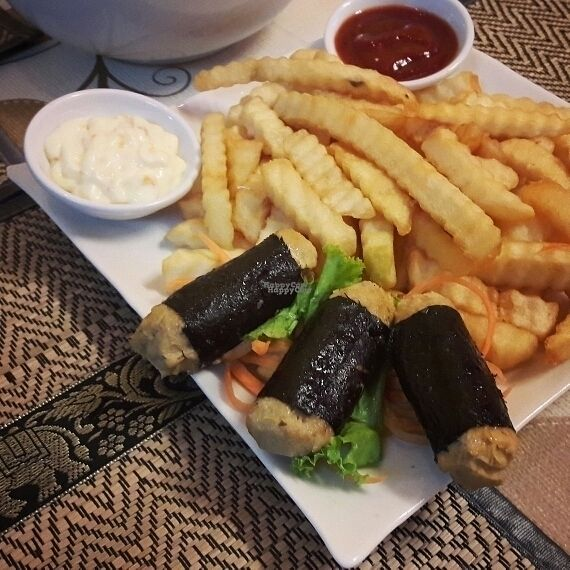 """Photo of CLOSED: D.D Samui Vegan Restaurant  by <a href=""""/members/profile/Olesya"""">Olesya</a> <br/>Fish and chips ? <br/> September 6, 2016  - <a href='/contact/abuse/image/79203/173959'>Report</a>"""