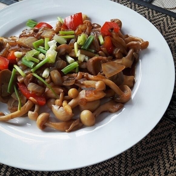 """Photo of CLOSED: D.D Samui Vegan Restaurant  by <a href=""""/members/profile/Olesya"""">Olesya</a> <br/>Fried mushrooms! So tasty <br/> September 8, 2016  - <a href='/contact/abuse/image/79203/174336'>Report</a>"""