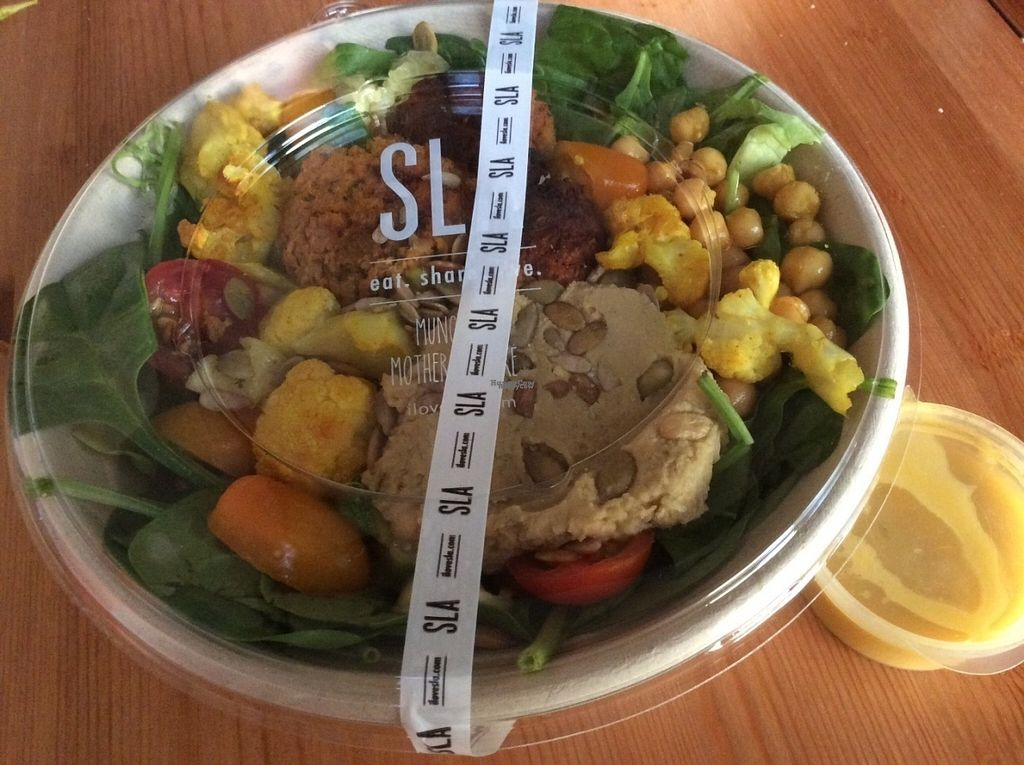 """Photo of SLA - Utrechtsestraat  by <a href=""""/members/profile/happyowl"""">happyowl</a> <br/>Sweet potato falafel salad <br/> October 10, 2016  - <a href='/contact/abuse/image/79233/181177'>Report</a>"""