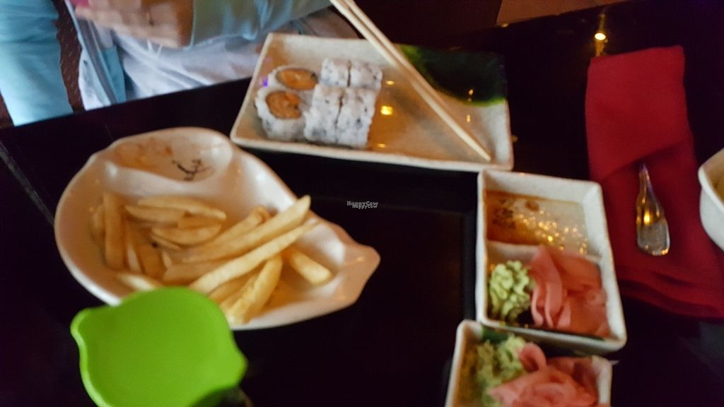 """Photo of Koizi  by <a href=""""/members/profile/debbiesmall"""">debbiesmall</a> <br/>Sweet potato sushi no eel sauce and French fries for our daughter  <br/> September 2, 2016  - <a href='/contact/abuse/image/79245/173130'>Report</a>"""