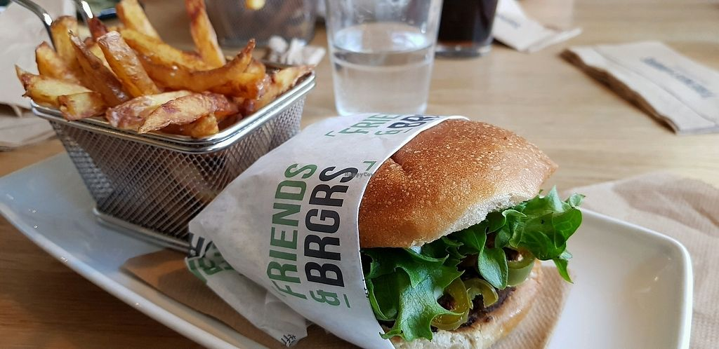 """Photo of Friends & Brgrs  by <a href=""""/members/profile/problems"""">problems</a> <br/>This was delicious and clearly marked vegan <br/> April 10, 2018  - <a href='/contact/abuse/image/79254/383230'>Report</a>"""