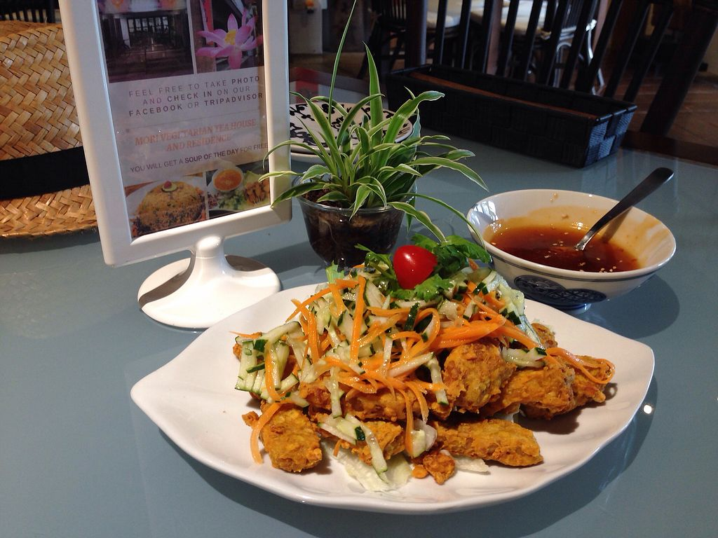 """Photo of Mori Vegetarian Tea House  by <a href=""""/members/profile/JeppoMAX"""">JeppoMAX</a> <br/>Crispy tempeh <br/> March 26, 2018  - <a href='/contact/abuse/image/79276/376222'>Report</a>"""