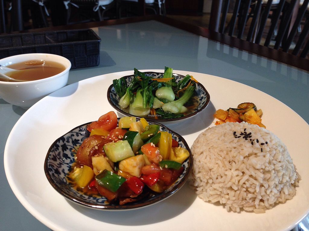 """Photo of Mori Vegetarian Tea House  by <a href=""""/members/profile/JeppoMAX"""">JeppoMAX</a> <br/>Abalone mushroom set <br/> March 26, 2018  - <a href='/contact/abuse/image/79276/376223'>Report</a>"""