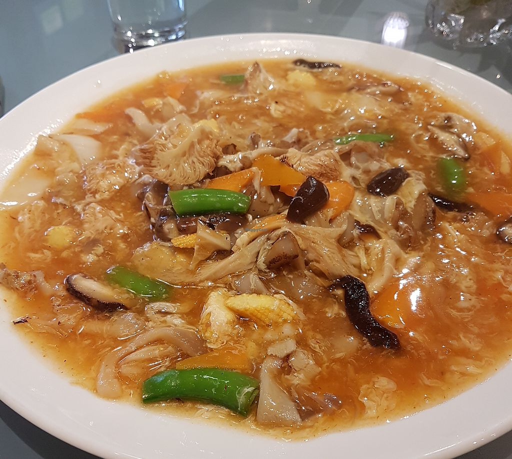 """Photo of Mori Vegetarian Tea House  by <a href=""""/members/profile/LaiNamKhim"""">LaiNamKhim</a> <br/>Tom Yum hor fun (has egg but you can for eggless version). My friend and I was surprised how good this was. Very tasty <br/> March 31, 2018  - <a href='/contact/abuse/image/79276/378570'>Report</a>"""