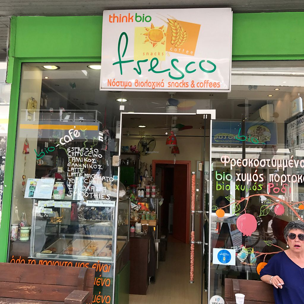 "Photo of Fresco Bio Cafe  by <a href=""/members/profile/earthville"">earthville</a> <br/>storefront  <br/> May 15, 2017  - <a href='/contact/abuse/image/79286/259075'>Report</a>"