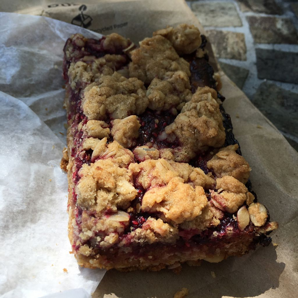 "Photo of Cafe Creme  by <a href=""/members/profile/AimeeS"">AimeeS</a> <br/>Vegan raspberry bar <br/> November 28, 2016  - <a href='/contact/abuse/image/79297/195279'>Report</a>"