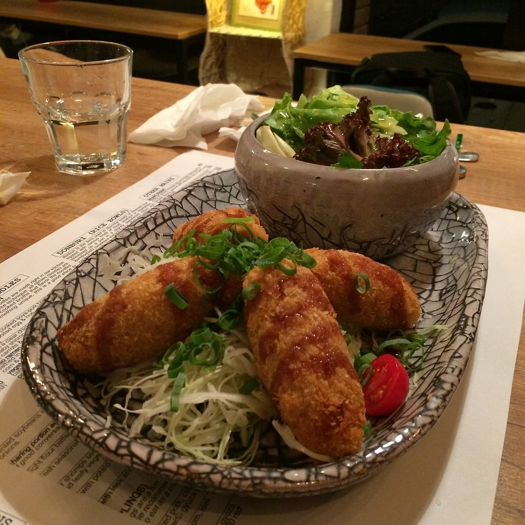 """Photo of Marukoshi  by <a href=""""/members/profile/becx.ray"""">becx.ray</a> <br/>Croquettes w/ salads <br/> September 30, 2017  - <a href='/contact/abuse/image/79301/310152'>Report</a>"""