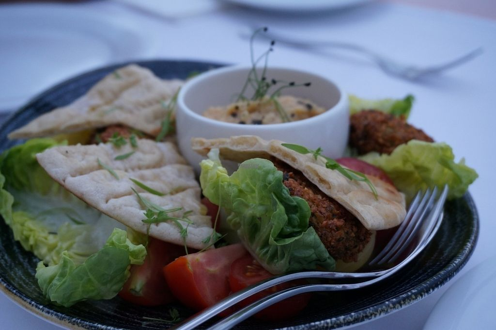 """Photo of Aqua Luna  by <a href=""""/members/profile/Ricardo"""">Ricardo</a> <br/>Hummus and falafel <br/> August 29, 2016  - <a href='/contact/abuse/image/79348/172108'>Report</a>"""