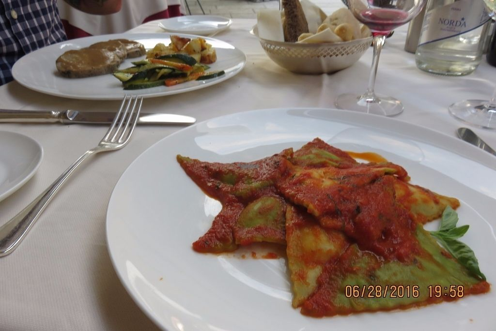 """Photo of Ristorante Imbarcadero  by <a href=""""/members/profile/tracyrocks"""">tracyrocks</a> <br/>spinach ravioli with barely any cheese inside <br/> August 29, 2016  - <a href='/contact/abuse/image/79350/172068'>Report</a>"""