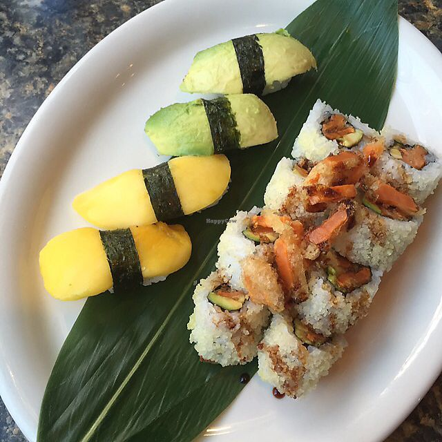 "Photo of Sushi 101 Bar & Grill  by <a href=""/members/profile/Squirrellypup"">Squirrellypup</a> <br/>avocado and mango nigiri and a sweet potato roll <br/> June 7, 2017  - <a href='/contact/abuse/image/79358/266587'>Report</a>"