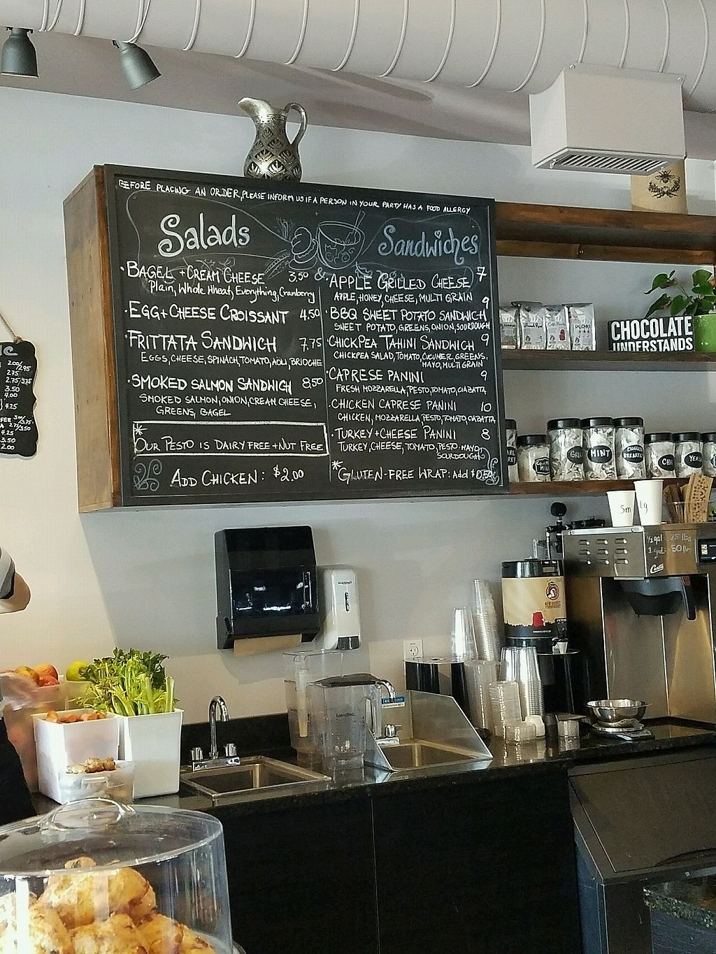 """Photo of Organic Buzz Cafe & Juice Bar  by <a href=""""/members/profile/VictoriaAllison"""">VictoriaAllison</a> <br/>Salad & Sandwhich menu  <br/> July 3, 2017  - <a href='/contact/abuse/image/79359/276343'>Report</a>"""