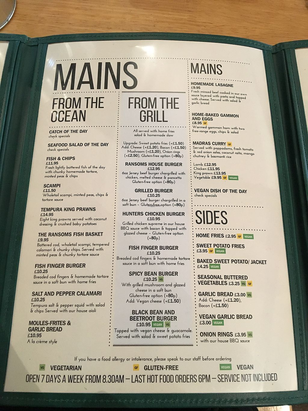 """Photo of Ransoms Tearooms and Restaurant  by <a href=""""/members/profile/KelseyHudspeth"""">KelseyHudspeth</a> <br/>mains menu <br/> August 5, 2017  - <a href='/contact/abuse/image/79364/288933'>Report</a>"""