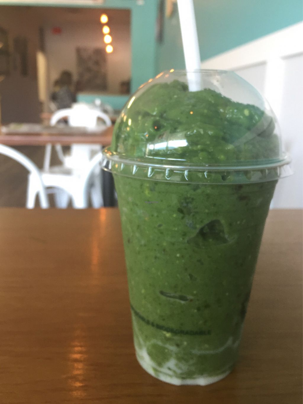 """Photo of Roots Modern Health Food  by <a href=""""/members/profile/ChelseaAprilNovak"""">ChelseaAprilNovak</a> <br/>Green Protein Smoothie <br/> September 23, 2017  - <a href='/contact/abuse/image/79375/307523'>Report</a>"""