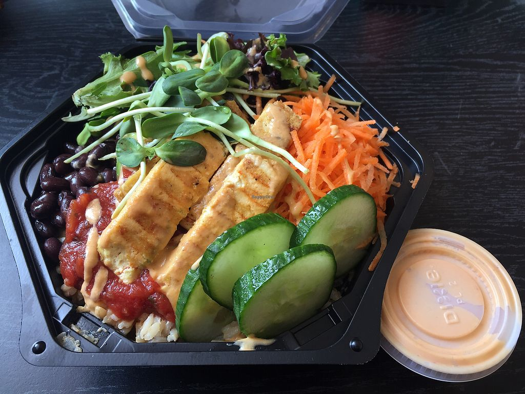 """Photo of Roots Modern Health Food  by <a href=""""/members/profile/ChelseaAprilNovak"""">ChelseaAprilNovak</a> <br/>Red curry rice bowl, no yogourt, with tofu <br/> September 26, 2017  - <a href='/contact/abuse/image/79375/308608'>Report</a>"""