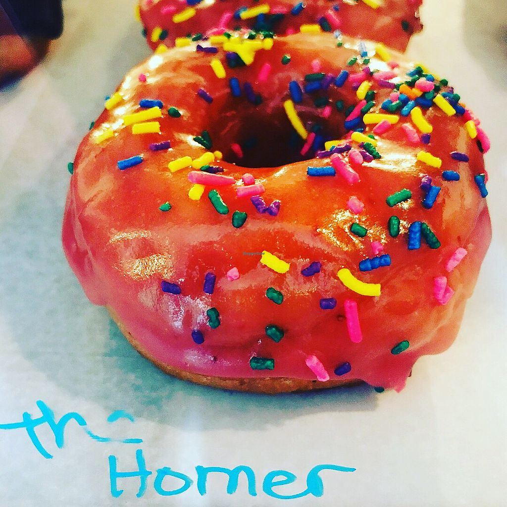 """Photo of Dun-Well Doughnuts  by <a href=""""/members/profile/The%20London%20Vegan"""">The London Vegan</a> <br/>Duh!  <br/> November 15, 2017  - <a href='/contact/abuse/image/79385/326033'>Report</a>"""