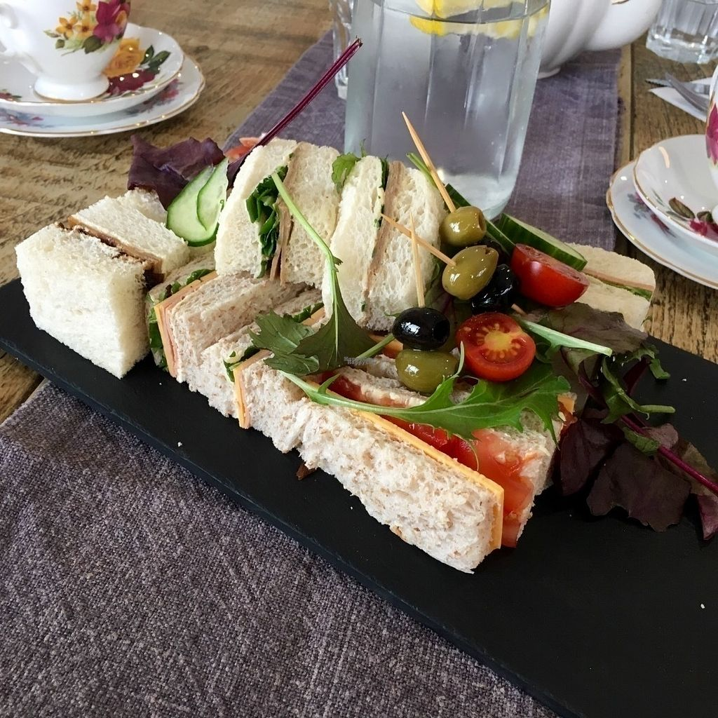 "Photo of Queens  by <a href=""/members/profile/Libra77"">Libra77</a> <br/>Selection of vegan sandwiches from afternoon tea - pre booking required <br/> September 30, 2016  - <a href='/contact/abuse/image/79392/178843'>Report</a>"