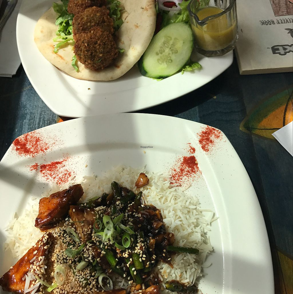 "Photo of Gypsy Cafe  by <a href=""/members/profile/JamieElder"">JamieElder</a> <br/>falafel and the long bean and tofu stir fry  <br/> June 22, 2017  - <a href='/contact/abuse/image/79396/272343'>Report</a>"