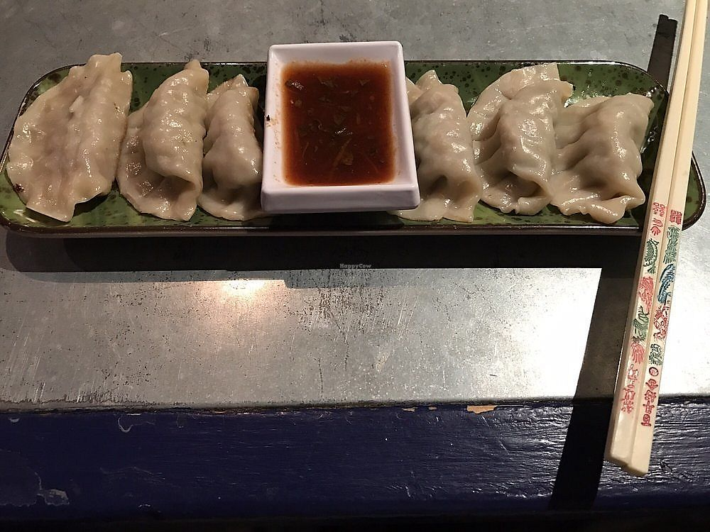 "Photo of Gypsy Cafe  by <a href=""/members/profile/nlevine94"">nlevine94</a> <br/>Vegetable dumplings with chili sauce. Very good! <br/> November 11, 2017  - <a href='/contact/abuse/image/79396/324273'>Report</a>"