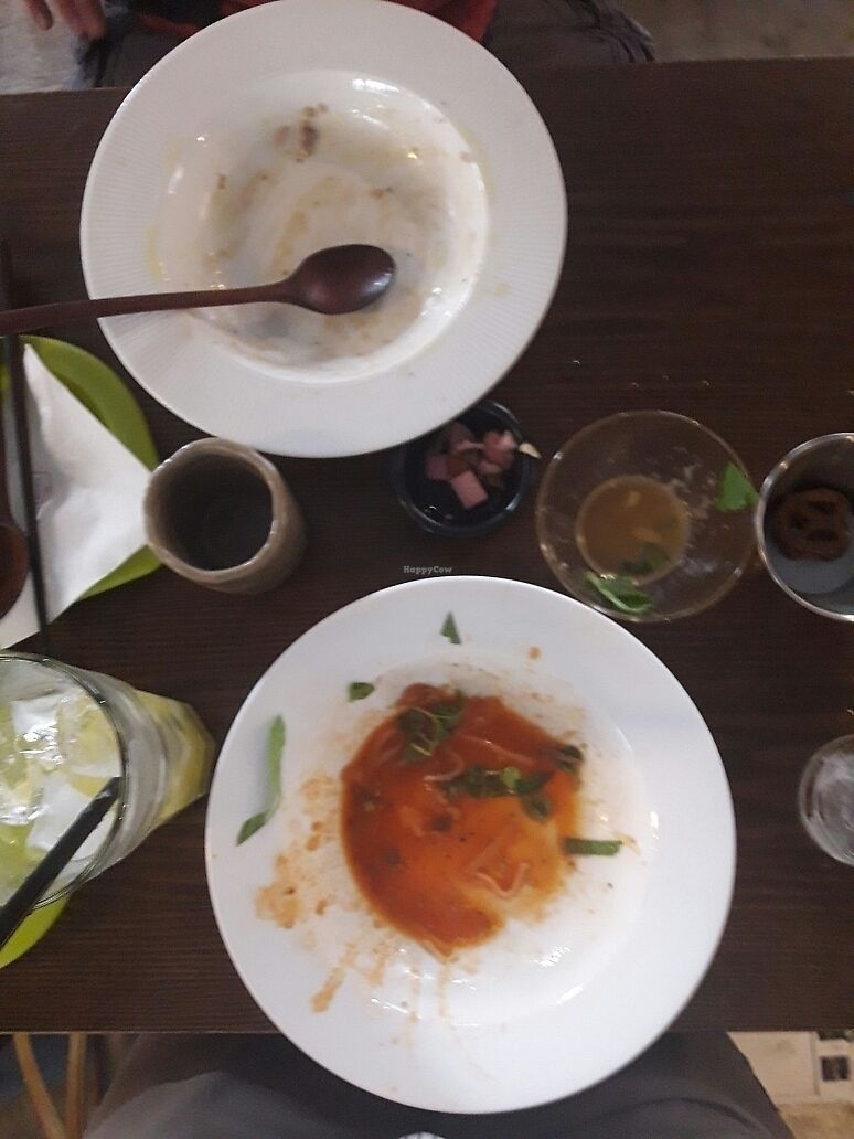 """Photo of Slunch Factory - 슬런치 팩토리  by <a href=""""/members/profile/canuknKorea"""">canuknKorea</a> <br/>what was left of the mushroom rice pasta and risotto.  <br/> July 29, 2017  - <a href='/contact/abuse/image/79405/286114'>Report</a>"""