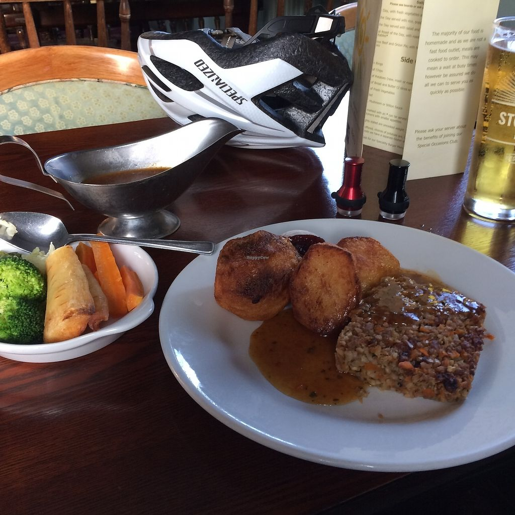 """Photo of The Sun Inn   by <a href=""""/members/profile/paulmunson"""">paulmunson</a> <br/>Great Nut Roast - done to perfection  <br/> September 8, 2017  - <a href='/contact/abuse/image/79406/301986'>Report</a>"""