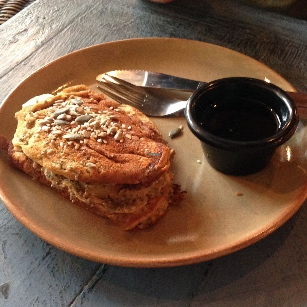 "Photo of CLOSED: Coffee Punks  by <a href=""/members/profile/charclothier"">charclothier</a> <br/>Vegan pancakes, blueberries, maple syrup and banana  <br/> September 3, 2016  - <a href='/contact/abuse/image/79413/173239'>Report</a>"