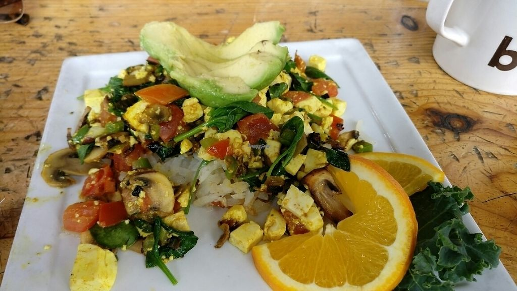 """Photo of Berlin Bistro  by <a href=""""/members/profile/chobesoy"""">chobesoy</a> <br/>tofu scramble!  <br/> January 7, 2017  - <a href='/contact/abuse/image/79444/209224'>Report</a>"""