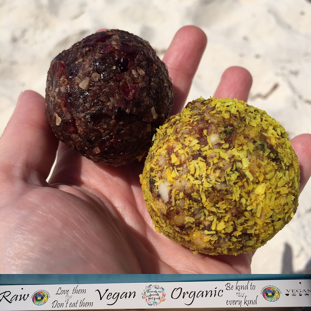 "Photo of Eduardo's Beach Shack  by <a href=""/members/profile/Eefie"">Eefie</a> <br/>Raw Vegan Gluten Free Protein Balls - Chocmint & Salty Caramel <br/> October 10, 2017  - <a href='/contact/abuse/image/79459/314078'>Report</a>"