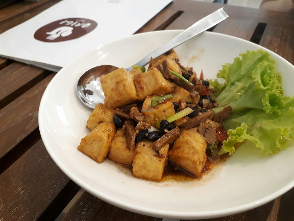 "Photo of Origi  by <a href=""/members/profile/Vasukrub"">Vasukrub</a> <br/>Fried tofu witg black bean sauce <br/> July 22, 2017  - <a href='/contact/abuse/image/79473/283107'>Report</a>"
