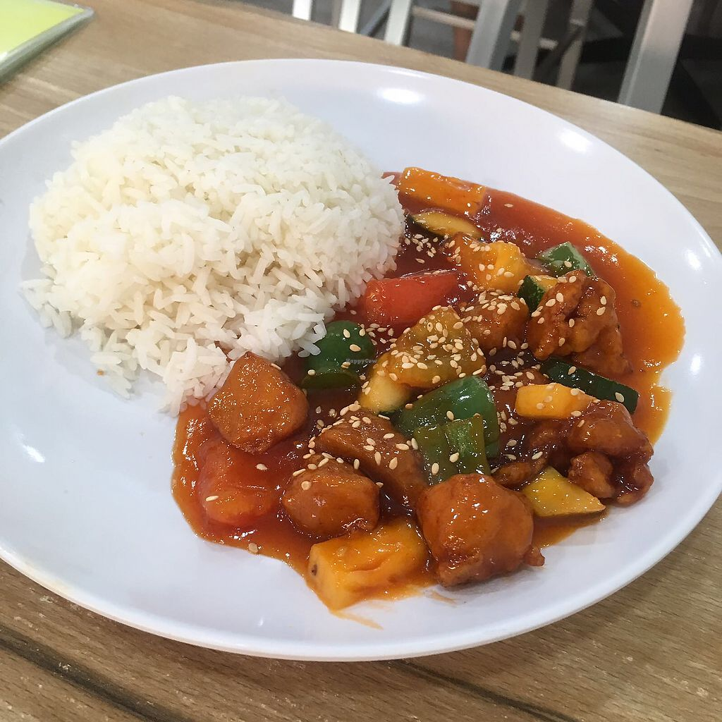 """Photo of SHU Vegetarian  by <a href=""""/members/profile/breakfastparadise"""">breakfastparadise</a> <br/>Best sweet & sour pork rice  <br/> March 23, 2018  - <a href='/contact/abuse/image/79478/374634'>Report</a>"""