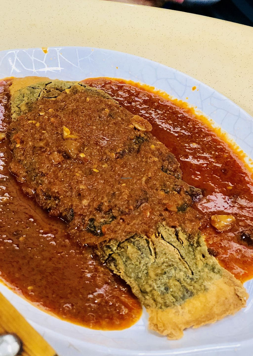 """Photo of Green Lane Vegetarian Food  by <a href=""""/members/profile/CherylQuincy"""">CherylQuincy</a> <br/>Stir fried chilli vegetarian fish <br/> February 9, 2018  - <a href='/contact/abuse/image/79480/356898'>Report</a>"""