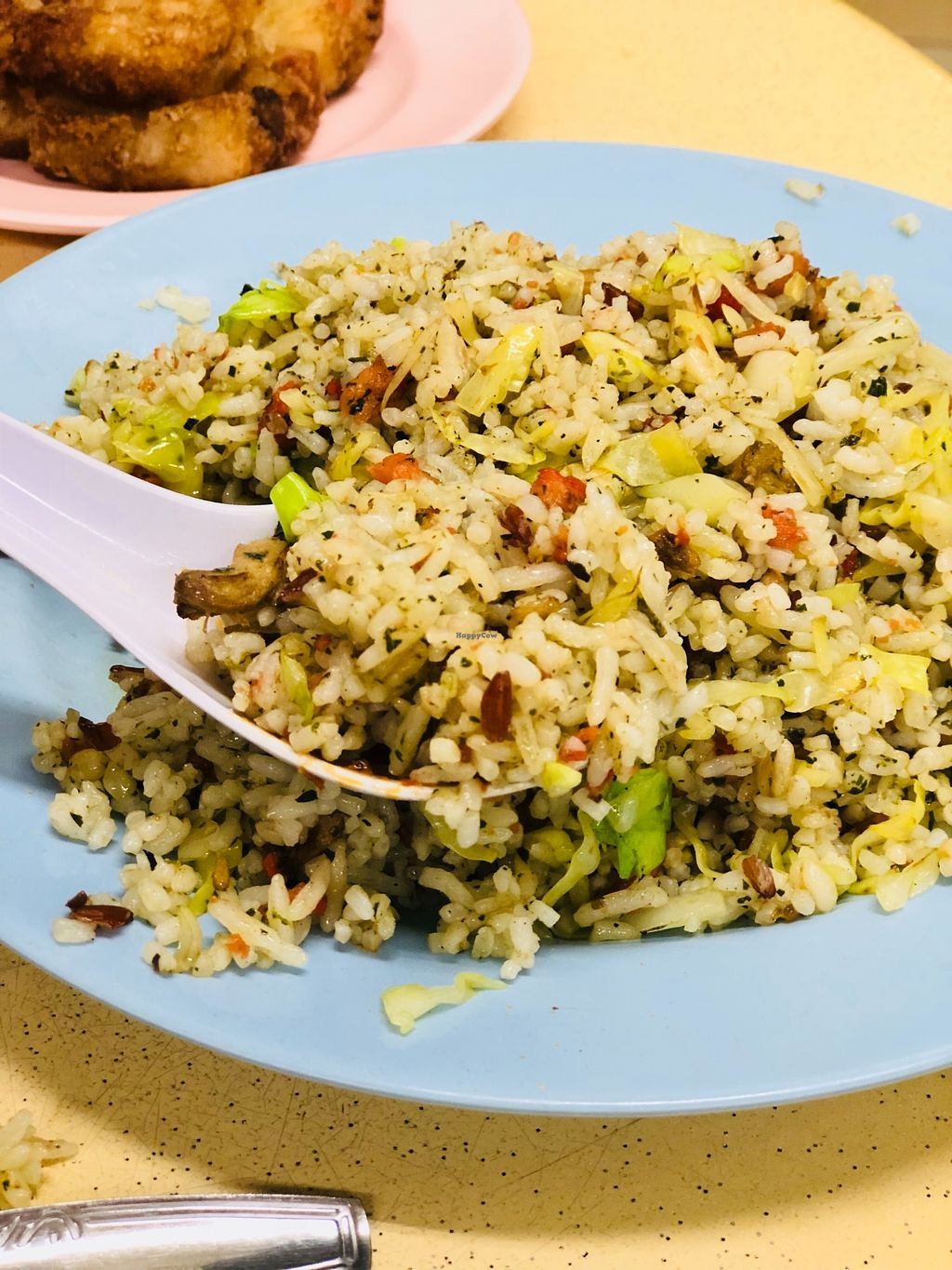 """Photo of Green Lane Vegetarian Food  by <a href=""""/members/profile/CherylQuincy"""">CherylQuincy</a> <br/>Olive fried rice  <br/> February 9, 2018  - <a href='/contact/abuse/image/79480/356903'>Report</a>"""