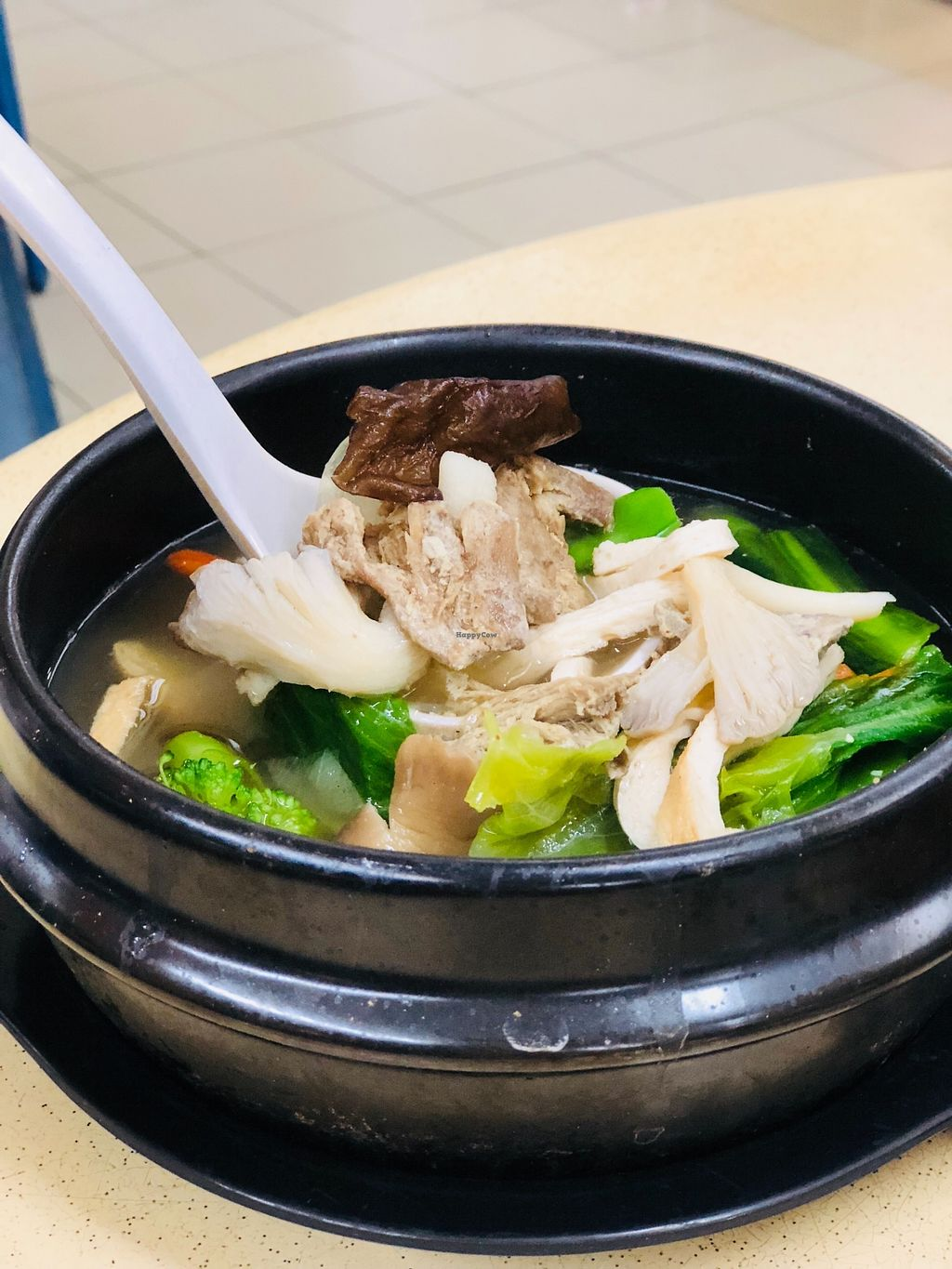 """Photo of Green Lane Vegetarian Food  by <a href=""""/members/profile/CherylQuincy"""">CherylQuincy</a> <br/>Herbal vegetable soup <br/> February 9, 2018  - <a href='/contact/abuse/image/79480/356910'>Report</a>"""