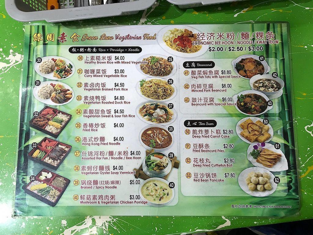 "Photo of Green Lane Vegetarian Food  by <a href=""/members/profile/Sweetveganneko"">Sweetveganneko</a> <br/>Menu <br/> February 8, 2018  - <a href='/contact/abuse/image/79480/359287'>Report</a>"