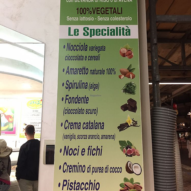 "Photo of Gelateria Malu  by <a href=""/members/profile/Alcibie"">Alcibie</a> <br/>Vegan ice-cream menu  <br/> June 12, 2017  - <a href='/contact/abuse/image/79489/268442'>Report</a>"