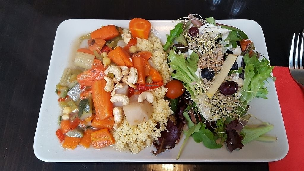 "Photo of De Plaats  by <a href=""/members/profile/Hanna_F"">Hanna_F</a> <br/>Dish of the day: quinoa with vegetables and salad with grapes and blueberries <br/> March 15, 2018  - <a href='/contact/abuse/image/79492/370978'>Report</a>"