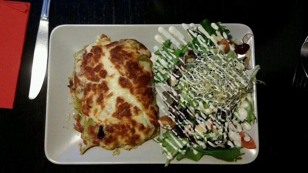 "Photo of De Plaats  by <a href=""/members/profile/1-Esther-1"">1-Esther-1</a> <br/>Lasagna with salad <br/> March 10, 2018  - <a href='/contact/abuse/image/79492/377644'>Report</a>"