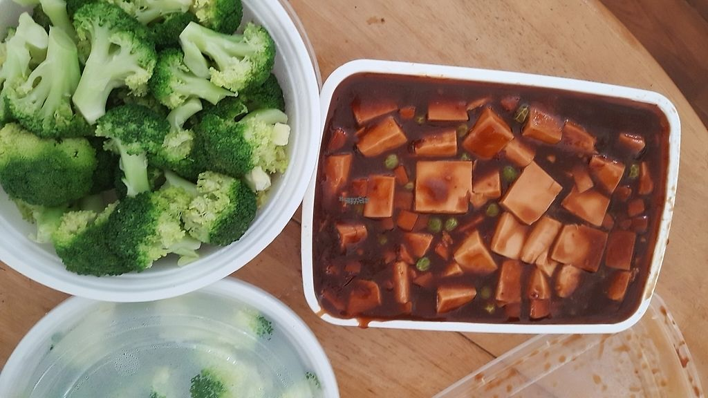 """Photo of China Wok  by <a href=""""/members/profile/debbiesmall"""">debbiesmall</a> <br/>Mo po tofu & steamed broccoli  <br/> September 8, 2016  - <a href='/contact/abuse/image/79500/197011'>Report</a>"""