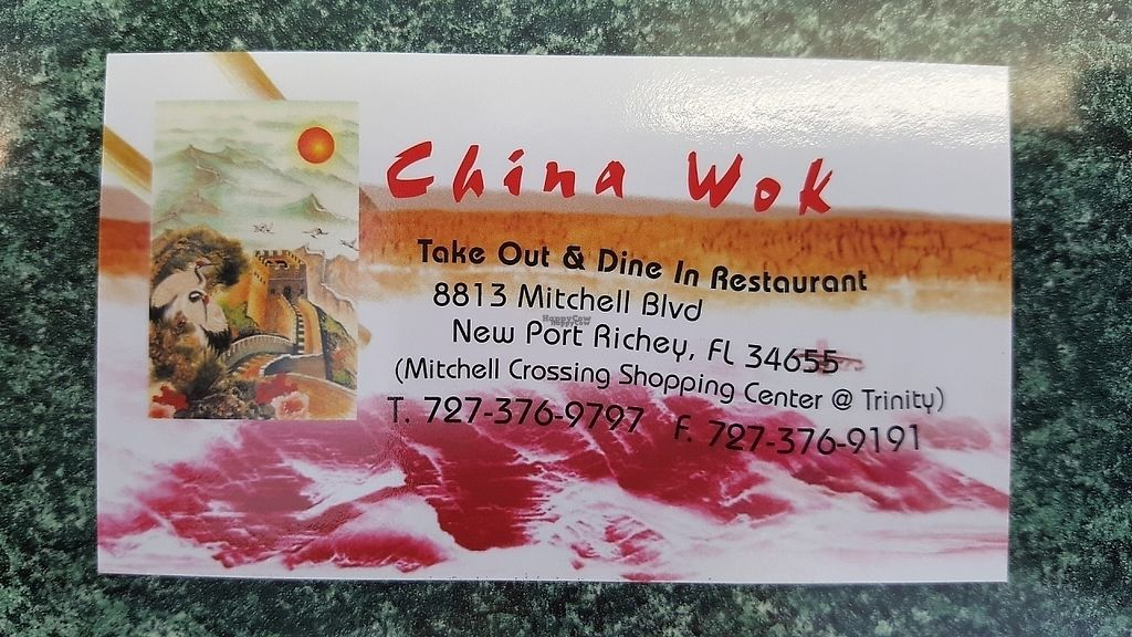 """Photo of China Wok  by <a href=""""/members/profile/debbiesmall"""">debbiesmall</a> <br/>Business card <br/> September 8, 2016  - <a href='/contact/abuse/image/79500/197016'>Report</a>"""