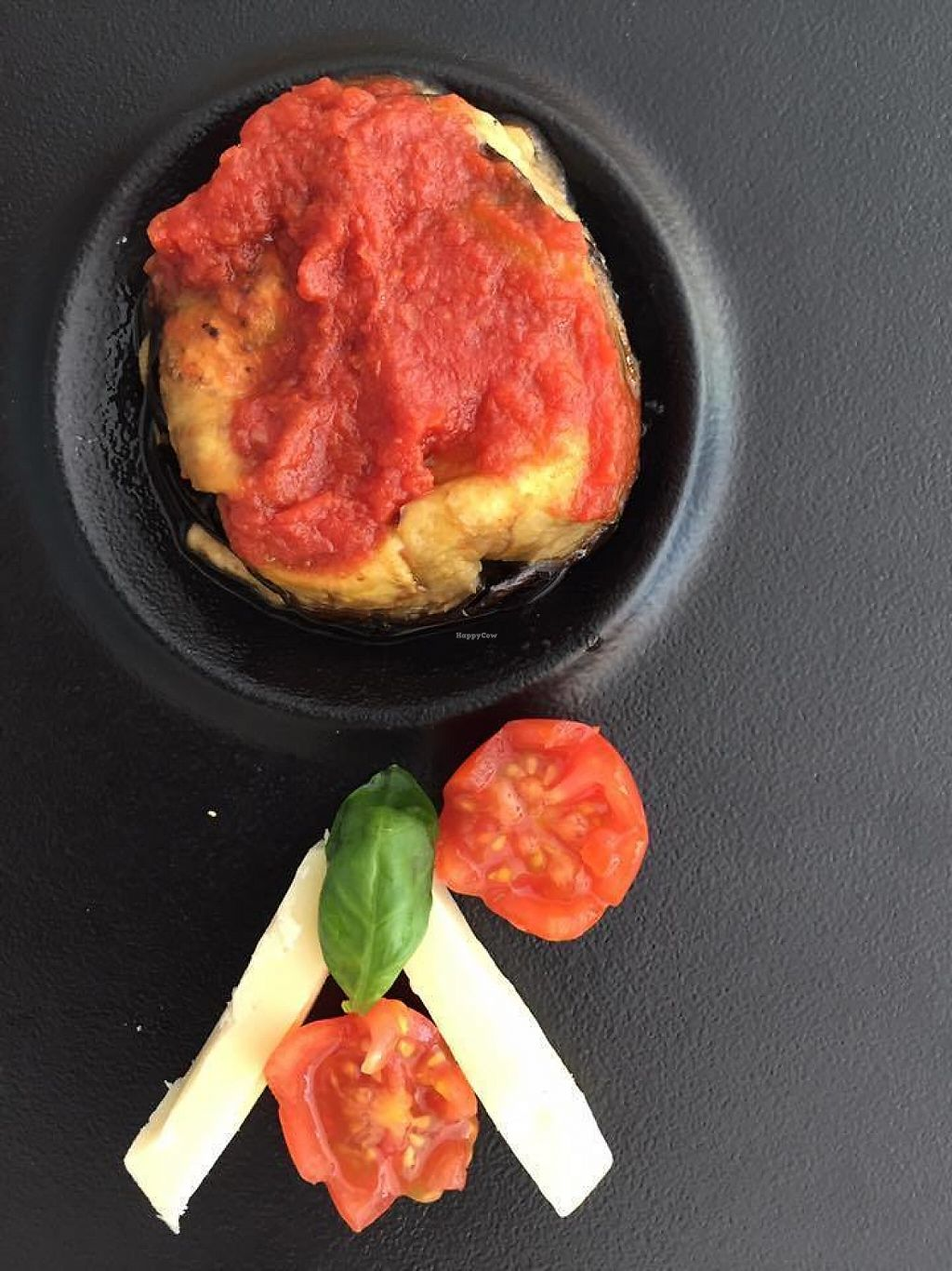 """Photo of Bianco Rosso & Verdure  by <a href=""""/members/profile/LucieS"""">LucieS</a> <br/>Aubergines, tomato sauce and amazing vegan cheese <br/> May 28, 2017  - <a href='/contact/abuse/image/79509/263321'>Report</a>"""