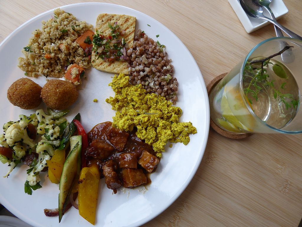"""Photo of Loff Restaurant  by <a href=""""/members/profile/v_mdj"""">v_mdj</a> <br/>Some vegan options from the buffet <br/> August 26, 2017  - <a href='/contact/abuse/image/79510/297503'>Report</a>"""