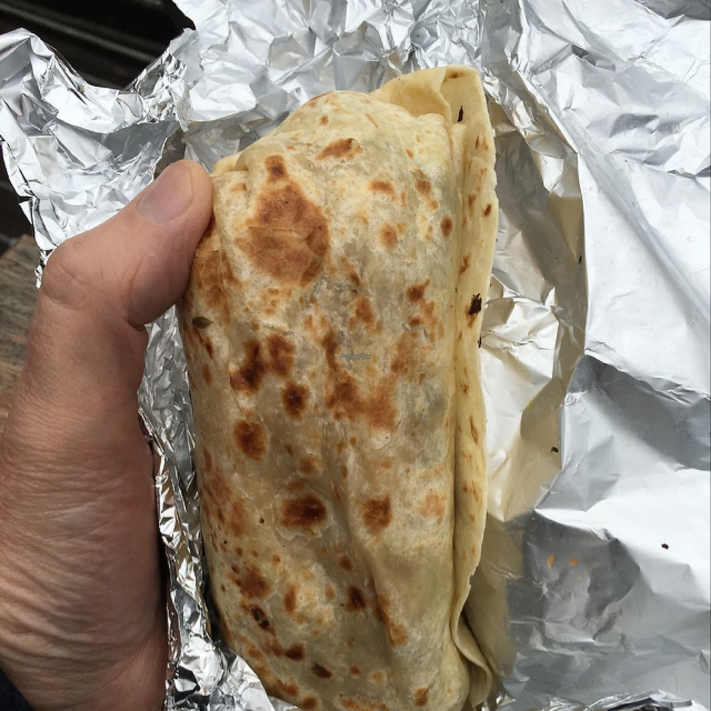 """Photo of Club Mexicana - Camden  by <a href=""""/members/profile/Veg4Jay"""">Veg4Jay</a> <br/>Burrito; Good size, my Hand is Large <br/> January 10, 2017  - <a href='/contact/abuse/image/79516/210354'>Report</a>"""