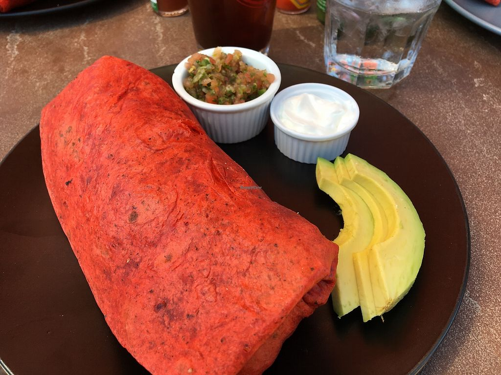 "Photo of Peekaboo Canyon Wood Fired Kitchen  by <a href=""/members/profile/nealpage_delgriffith"">nealpage_delgriffith</a> <br/>Vegan Breakfast Burrito! <br/> July 24, 2017  - <a href='/contact/abuse/image/79524/284105'>Report</a>"