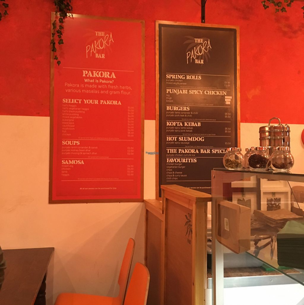 """Photo of The  Pakora Bar  by <a href=""""/members/profile/nardanddee"""">nardanddee</a> <br/>menu <br/> December 30, 2016  - <a href='/contact/abuse/image/79527/206350'>Report</a>"""